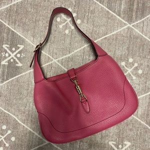 Gucci (~2004) Jackie Hobo Bag Pink Pebbled Leather